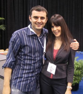 Gary Vaynerchuk (@garyvee) and Julie Spira( @JulieSpira) at Book Expo
