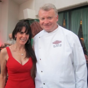 Julie Spira and Omaha Steaks Executive Chef Karl Marsh - BlogWorld