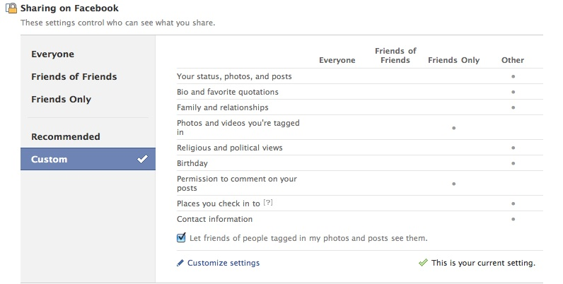 Facebook Privacy Settings - Social Media and More